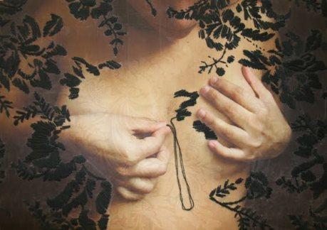 ana teresa barboza, bordado y transfer sobre tela. 5 piezas 3