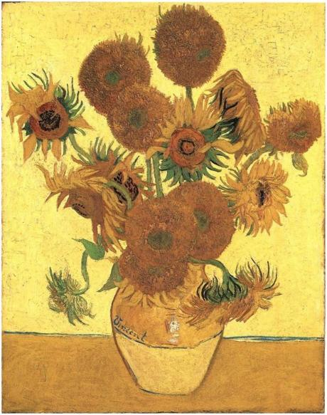 Van Gogh Still-Life--Vase-with-Fifteen-Sunflowers