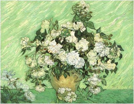 Van Gogh Still-Life--Vase-with-Roses